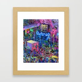 Busy Street Framed Art Print