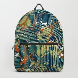 Old Marbled Paper 05 Backpack