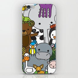 Zoe animals iPhone Skin