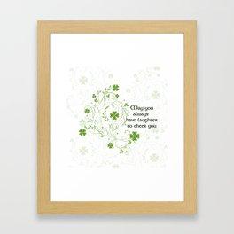 St. Patrick's Day Irish Blessing Framed Art Print