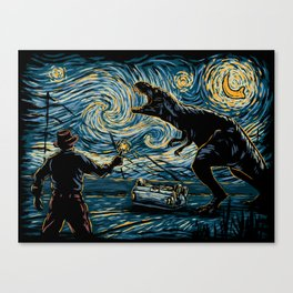 Jurassic Night Canvas Print