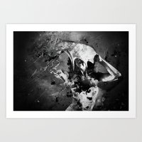 antler Art Prints featuring Antler by Alice Ferox