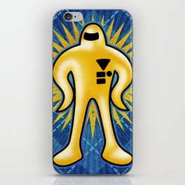 Gold Starman iPhone Skin