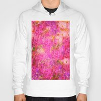 shabby chic Hoodies featuring Pink and Red Vintages Roses So Shabby Chic by Saundra Myles