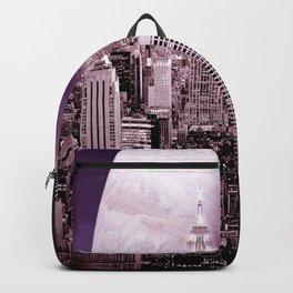 New New York : Galaxy City Dark Mauve Backpack