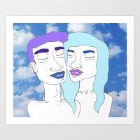 Stuck in the Clouds Art Print