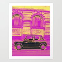 mini Art Prints featuring MINI by Louisa Rogers