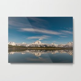 Morning Reflections in Grand Teton Metal Print