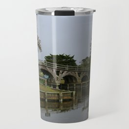 Historic Wooden Bridge At Currituck Light Station Travel Mug