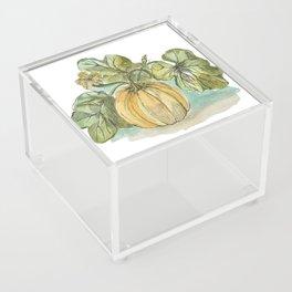 Antique Botanical Sketch Pumpkin Acrylic Box