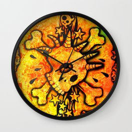 Lucky goes popn°5 Wall Clock