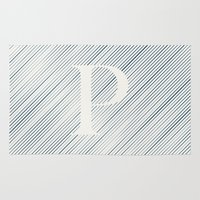 striped Area & Throw Rugs featuring Striped P by DLUTED DESIGN