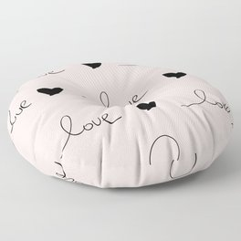 Love doodles Floor Pillow