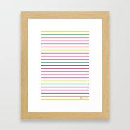 beau oui stripe Framed Art Print