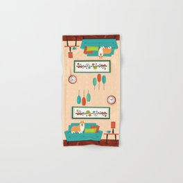 A Corgi Makes A House A Home Hand & Bath Towel
