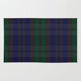 Green and blue plaid pattern Rug