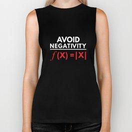 Avoid Negativity Funny Math Puns Geometry Algebra Science Nerd Biker Tank