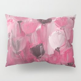 Rose Garden in Shades of Peachy Pink Pillow Sham