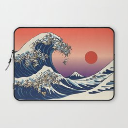 The Great Wave of English Bulldog Laptop Sleeve