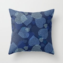 Hearts in hearts Throw Pillow