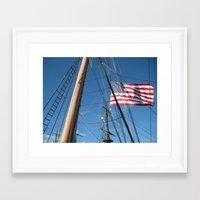 flag Framed Art Prints featuring Flag by courtney2k ⚓ design™