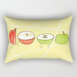 Apple Halves Rectangular Pillow