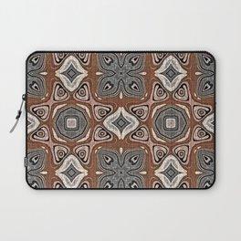 Gray Brown Taupe Beige Tan Black Hip Orient Bali Art Laptop Sleeve