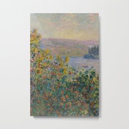 Monet, Flower Beds at Vétheuil, 1881 Metal Print