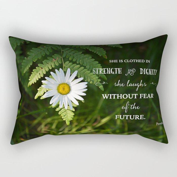 Clothed with Strength Rectangular Pillow