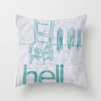 hell Throw Pillows featuring hell by Josh LaFayette