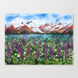 Carpathian in Lupine Canvas Print