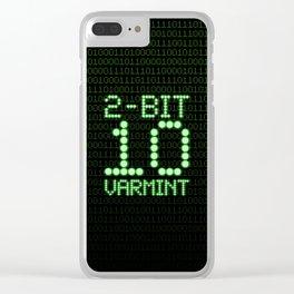 2-Bit Varmint / Binary vermin team code Clear iPhone Case