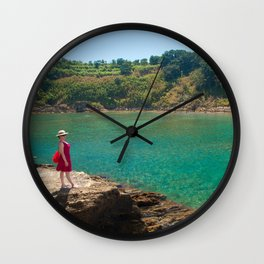 Contemplating the lagoon Wall Clock