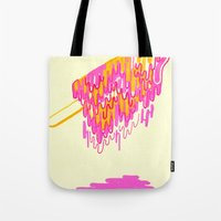 popsicle Tote Bags featuring Popsicle by Dewey Saunders
