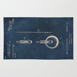 Electric lamp Edison patent art Rug