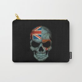 Dark Skull with Flag of Fiji Carry-All Pouch