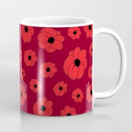 Maroon Poppy Coffee Mug