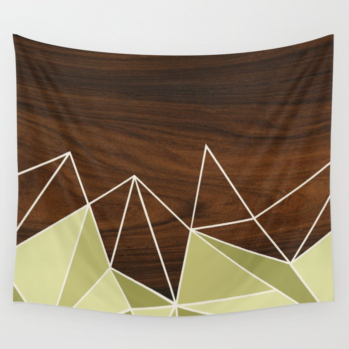 Facet in Green Wall Tapestry