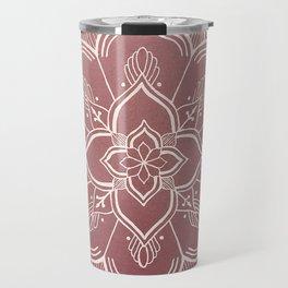 Gothic Mandala -Dusty Rose Travel Mug