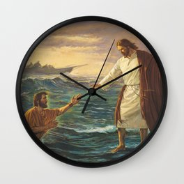 Jesus Walking On Water Wall Clock