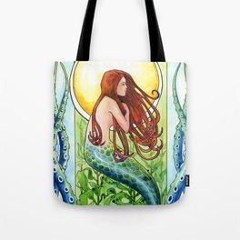 Kelp Forest Mermaid Tote Bag