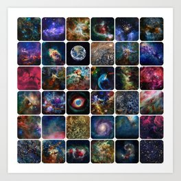 The Amazing Universe - Collection of Satellite Imagery Art Print
