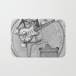 Joyful Noise -- Black and White Variant Bath Mat