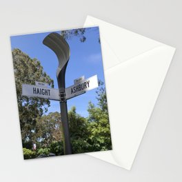 Corner of Haight and Ashbury in San Francisco Stationery Cards