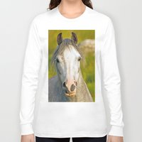pony Long Sleeve T-shirts featuring Welsh Pony  by Doug McRae