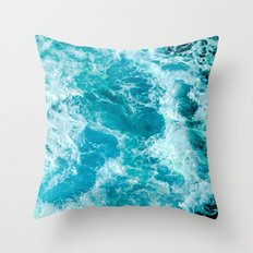 Sea Me Waving Throw Pillow