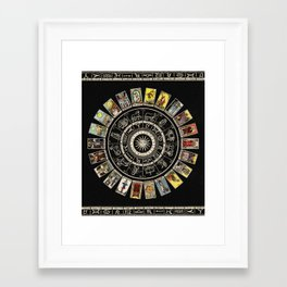 The Major Arcana & The Wheel of the Zodiac Framed Art Print