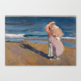 Fisherwomen with her son, Joaquín Sorolla, 1908 Canvas Print
