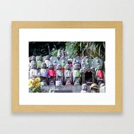 Jizo monk statues - Japan Framed Art Print