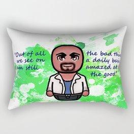 Agent Derek Morgan Rectangular Pillow